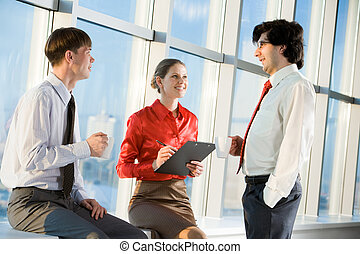 Business people - Portrait of three business people ...