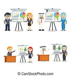 business people presentation set