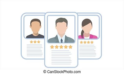 Business people profiles id with stars rating