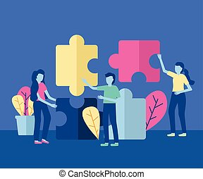 business people puzzles