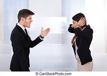Business People Quarreling
