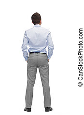 businessman from back
