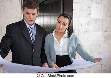 Business people Reviewing Business Plan