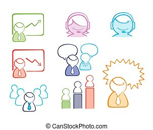 business people set color