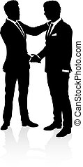 Business People Silhouette - Very high quality business...