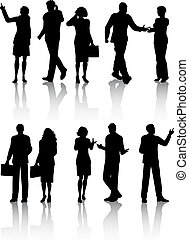 Business people - Silhouettes of business people