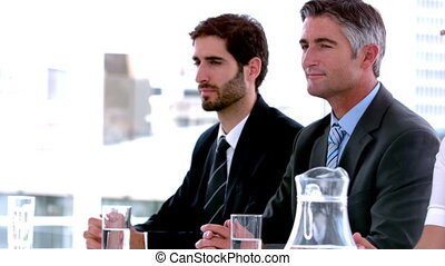Business people sitting