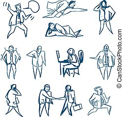 business people sketches