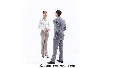 Business people speaking - Video of business people speaking