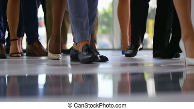 Business people standing in queue at business seminar 4k - ...