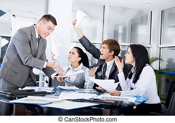 Business people conflict working problem, businessmen and...