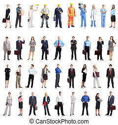 Business people - Group of smiling business people. Business...