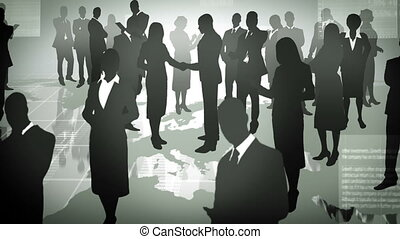 Business people. - Business people, global communication.
