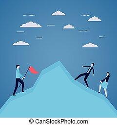 business people success