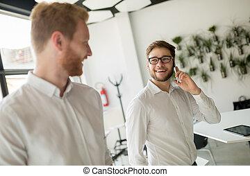 Business people taking a coffee break