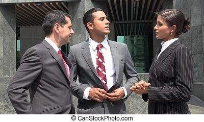 Business People Talk Disagree Reject Idea
