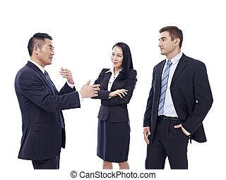 business people talking