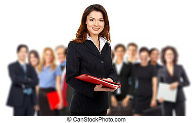 Business people team - Group of business people. Business ...