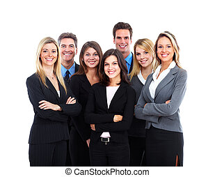 Business people team - Group of smiling business people. ...