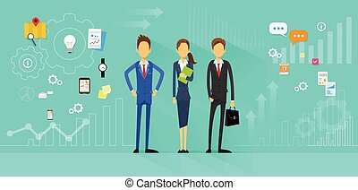 Business People Team Manager Human Resources Flat Design