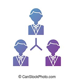 business people team silhouette style icon