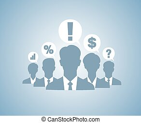 Business people team silhouettes