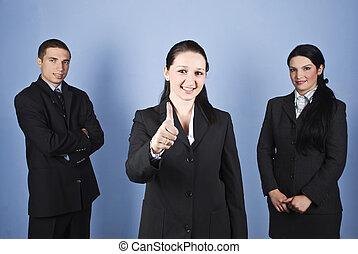 Business people team success