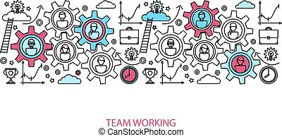 Business people teamwork concept for website and landing...
