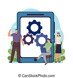business people technology
