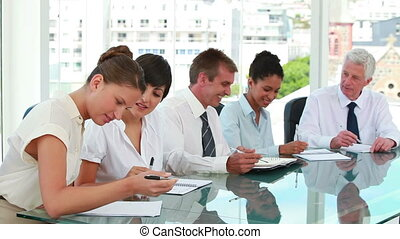 Business people together in a meeting room