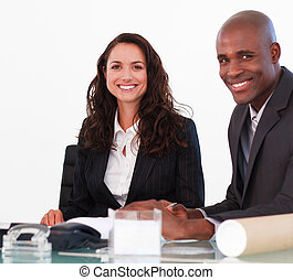 Business people together in an office