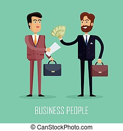 Business People. Two Businessmen Make a Contract