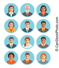Business people vector avatars set