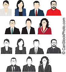 Business people vector.