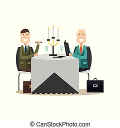 Business people vector illustration in flat style