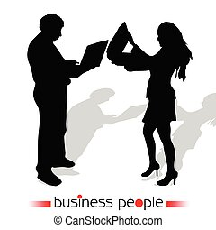 business people vector illustration silhouette