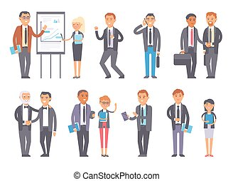 Business people vector set. - Set of business people...