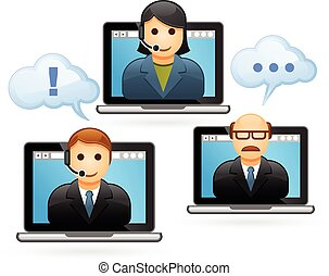 Business people video conference - Business people...