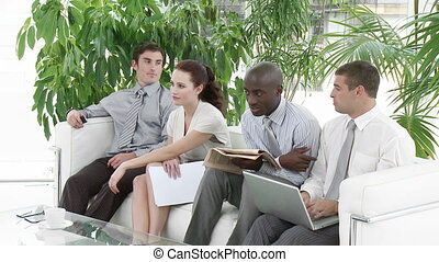 Business people Waiting for an interview