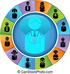 Business People Wheel