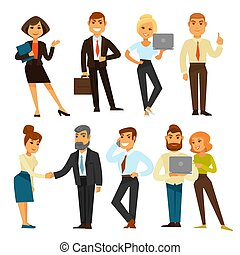 Business people while working time template vector...