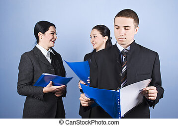 Business people with contract