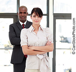 Business people with folded arms