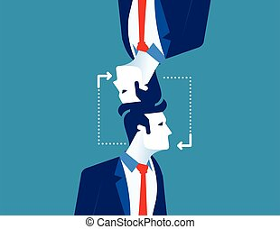 Business people with recycling and exchange ideas. Concept business vector illustration.