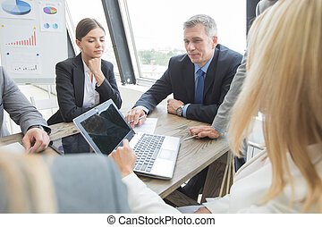 Business people work with laptop
