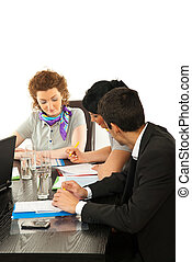 Business people working at meeting