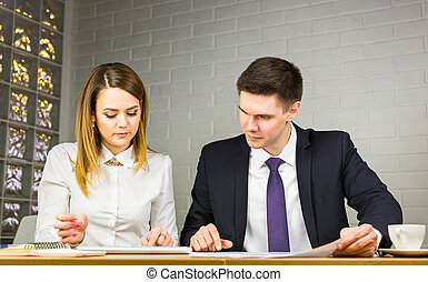 Business people working at the office