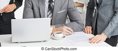 Business people working - Business people team working ...