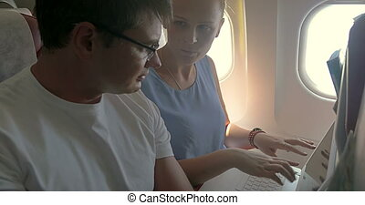 Business People Working during the Flight
