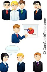 Business people working - icon set